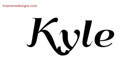 tattoo name kyle free lights font free free engine image for user manual
