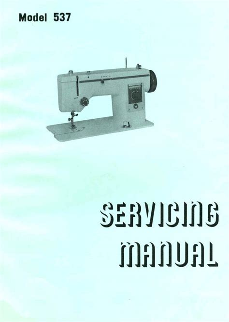 New Home Janome Sewing Machine Service Manuals