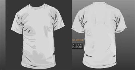 Baju Kaos Polos 515 Plain Placket Original front and back t shirt template 123freevectors
