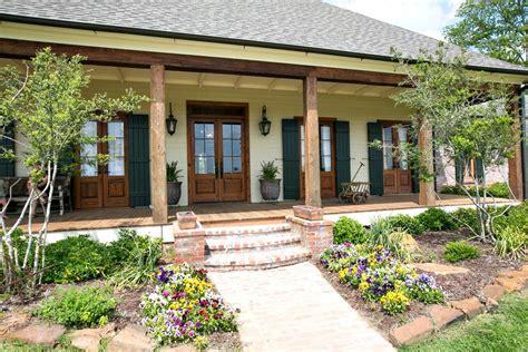 patio interior ladrillo french doors cypress columns front porch casita