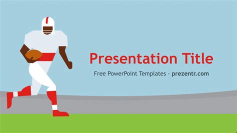 free american football player powerpoint template prezentr