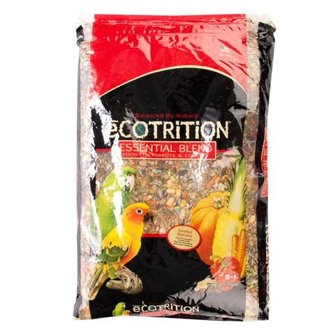 ecotrition esential blend parrot bird food size 8 lb
