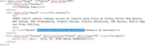 membuat query di javascript membuat efek slide di jquery mobile
