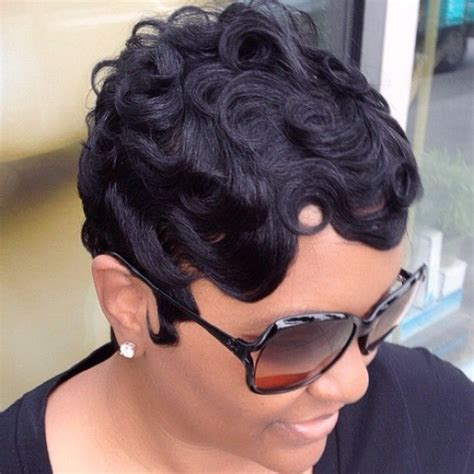 black hairstyles with finger wave sides and curls on top finger waves making a come back incredible kingdom of