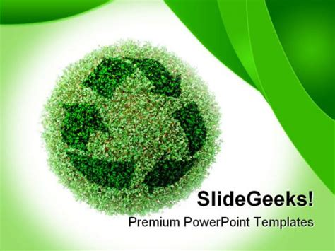 themes environment recycle environment powerpoint template 0910