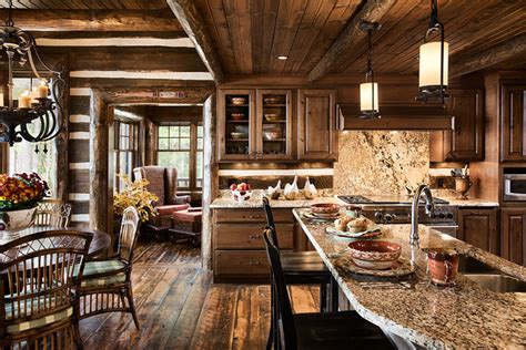 Log Home Kitchen Gallery log home kitchens rustic kitchen by expedition log homes