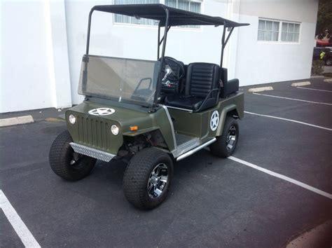 Jeep Golf Cart Club Car Golf Cart Willys Jeep Custom 48v 48 Volt Green