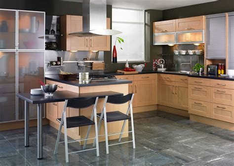 Contemporary Home Designs Shaker Beech Kitchen Design Stylehomes Net