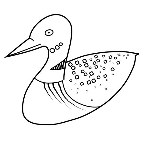 free loon coloring pages
