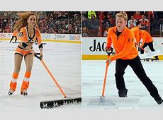 Philadelphia Flyers fans boo as Ice Girls cleaning crew ... Flood Relief Donations