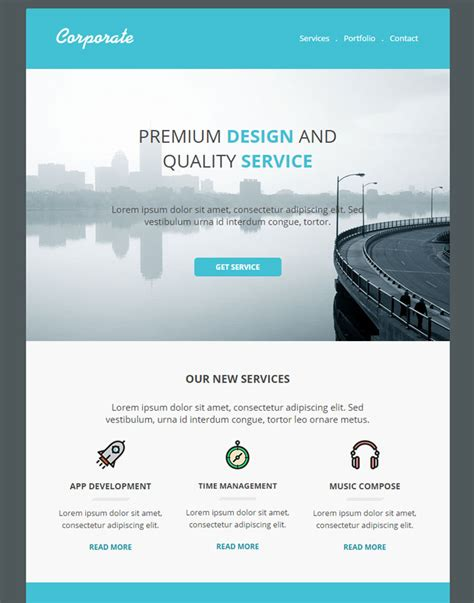 corporate email template 15 feature rich premium email newsletter templates