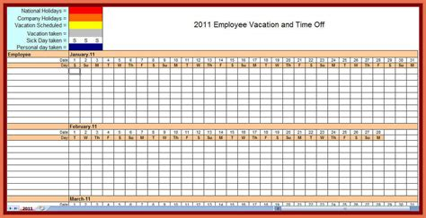 Employee Schedule Calendar Template by Fillable Quarterly Calendar