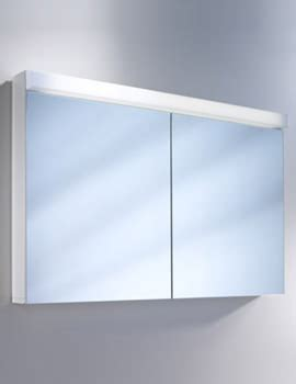 duravit 600mm 2 door built in mirror cabinet with open
