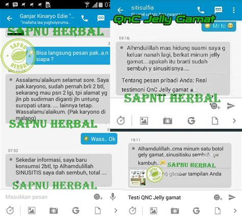 Obat Sinusitis Qnc Jelly Gamat testimoni qnc jelly gamat sinusitis sapnu herbal