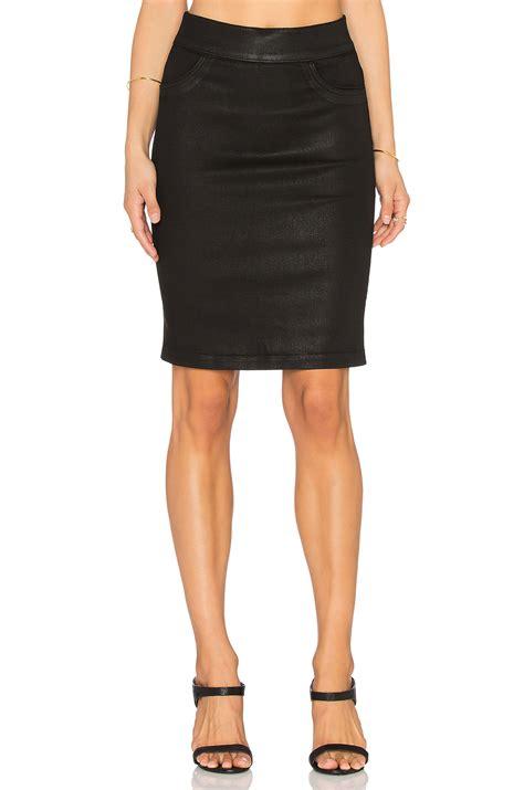slip on pencil skirt in black lyst
