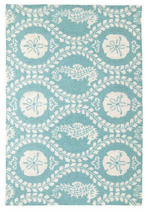 seahorse rug seahorse hook rug 27 x 40 traditional by the cottage