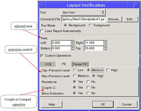 layout versus schematic verification report cadence lvs parasitic extraction tools