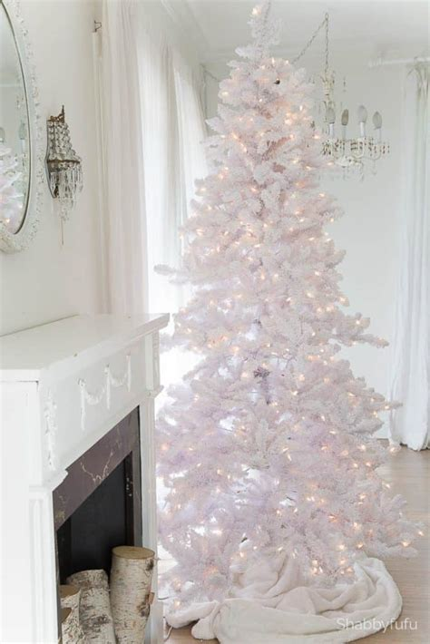 10 white christmas tree secrets and tips for decorating white trees shabbyfufu