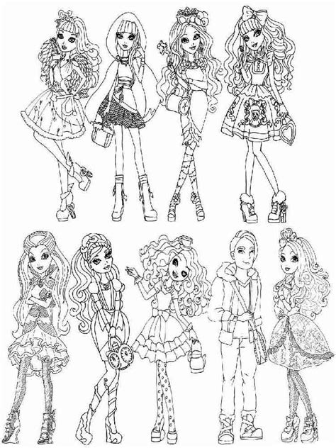 ever after high pet coloring pages madeline hatter getting fairest with pet coloring page 0
