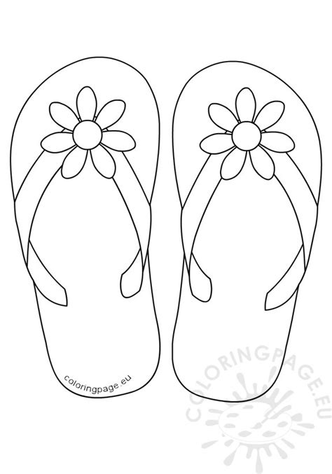 Flip Flop Coloring Pages Printable Coloring Pages Flip Flop Coloring Page