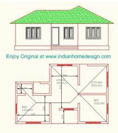 Low cost 2 bedroom indian home plan indian home design free house