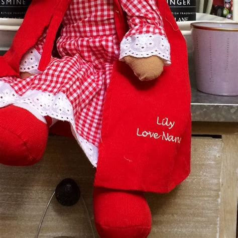 rag doll not on the high personalised rag doll by the
