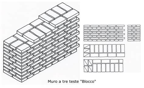 muro a tre teste il mattone pieno le murature