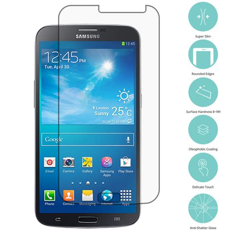 Tempered Glass Samsung Galaxy Mega 63 Screen Guard Samsung Mega 63 premium real tempered glass screen protector guard for cell phones ebay