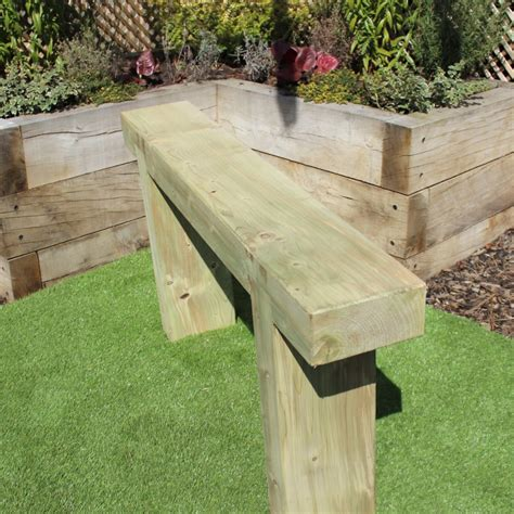 bench sleeper outdoor sleeper bench 1 2m garden seating wooden supplies uk