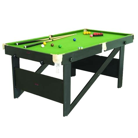 Folding Pool Table 6ft 6ft Folding Lay Flat Snooker Pool Table Rs6ag Gadget Mammoth