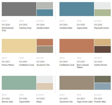 modern color schemes 25 best ideas about exterior paint combinations on