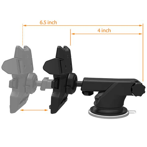 neck one touch car and desk mount the gadget