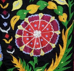 very large stunning uzbek ottoman silk embroidery