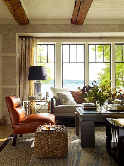 New York Style Living Room by Skaneateles Lake House Style Living Room New York By Thom Filicia Inc