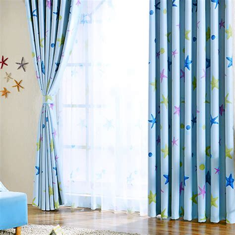 blue star curtains star curtains funky baby blue polyester kids bedroom star