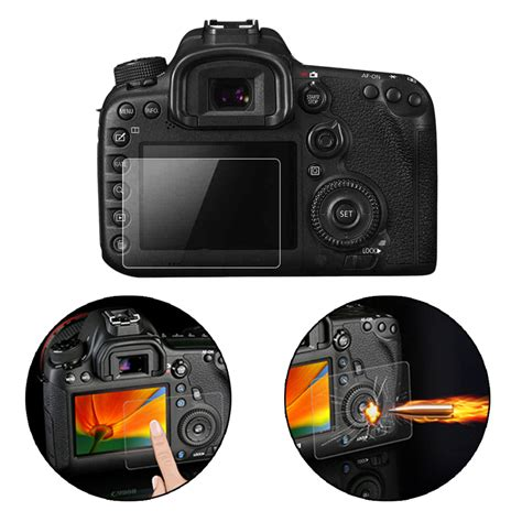 Screen Guard Protector Tempered Glass Lcd Canon For Eos 1100d clear tempered glass lcd screen protector guard for canon 7d2 f5 ebay