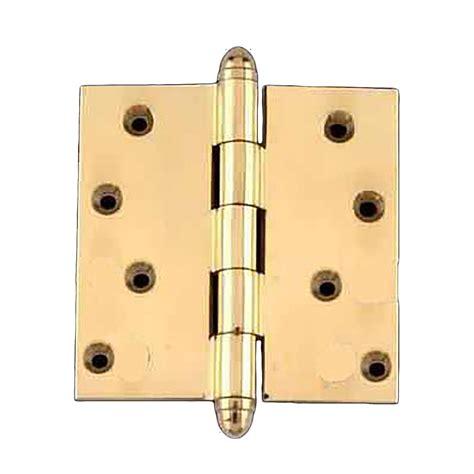 Brass Door Hinges by Solid Brass Door Or Cabinet Hinge Helmet Tip 4 Quot