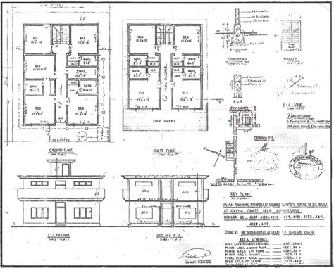 plan elevation and section of residential building ea o ka aina bin laden s house plan