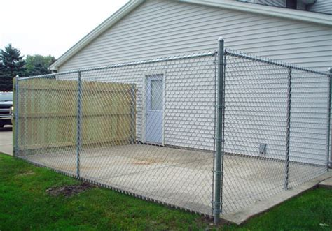 kennel fence residential chain link kennel enclosure fencing buffalo ny wny