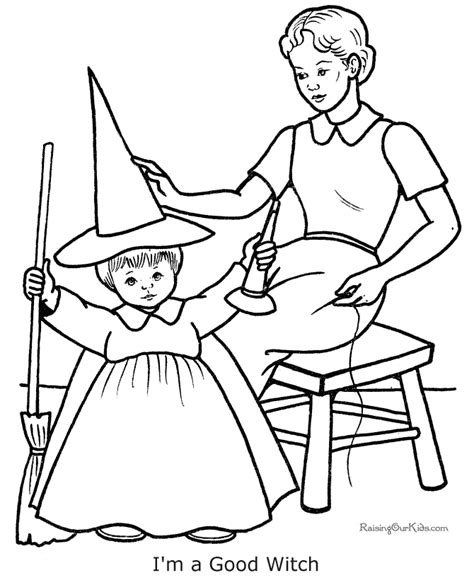scary halloween witch coloring pages good witch coloring pages for halloween 004