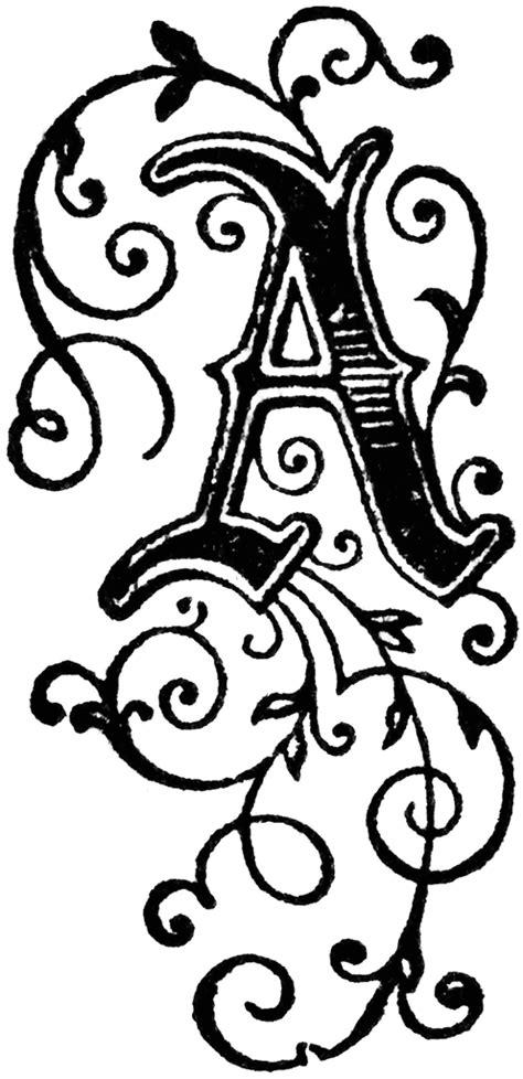 Decorative Letters Clipart decorative letter a clipart etc
