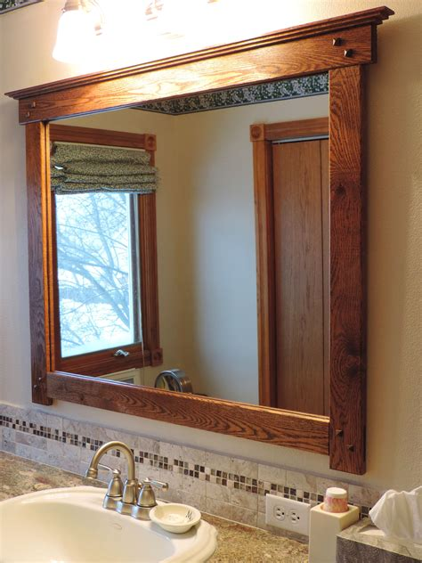 Mission Style Bathroom Mirror | mission style bathroom mirror i custom made from salvaged