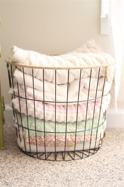 Crib Storage Basket by Vintage Inspired Nursery Project Nursery Wire