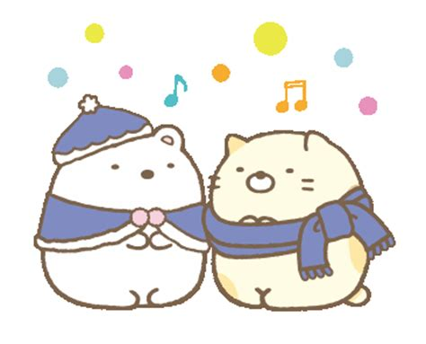Piyama Tsum Tsum Smash Jw 4 N line 官方貼圖 sumikko gurashi 冬季篇 exle with gif animation