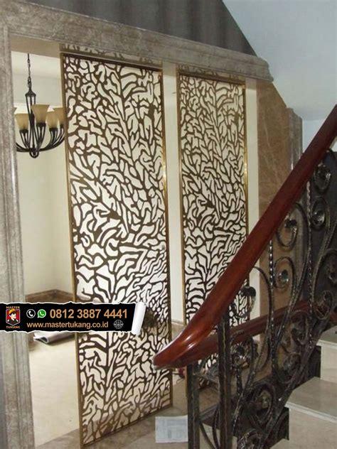 pagar ornament bermotif pintu balkon plat besi ornament
