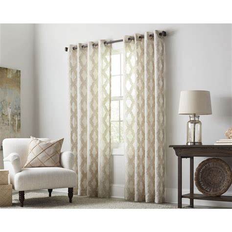 drapes of roth allen roth breesport 63 in oat polyester grommet light