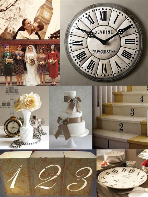 themes clock time time theme wedding shots it s about time