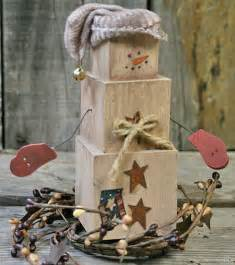 diy primitive home decor diy primitive snowman shelf sitter factory direct craft blog