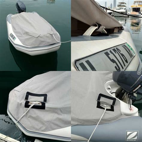 canvas inflatable boat custom zodiac rib boat cover with velcro kleat covers and