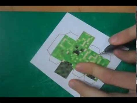 How To Make A Paper Creeper - minecraft papercraft how to make great quallity creeper